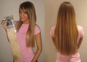 Накладные волосы на заколках deluxe