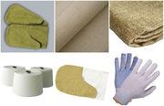 Двунитка, брезент, миткаль,  рукавицы и перчатки рабочие