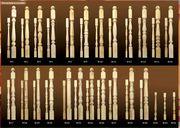 Элементы лестниц отпом. ( балясины,  столбы,  поручень,  колонны ).